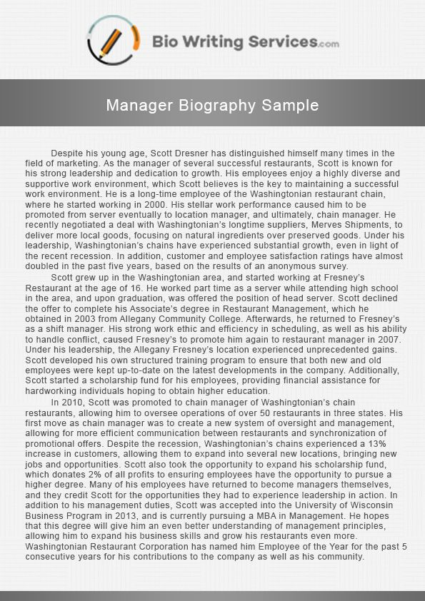 Professional biography writing services for mba sample essay for biology internship