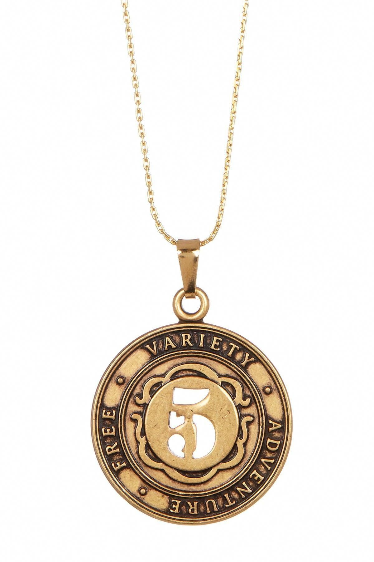 Numerology Number 5 Charm Adjustable Necklace