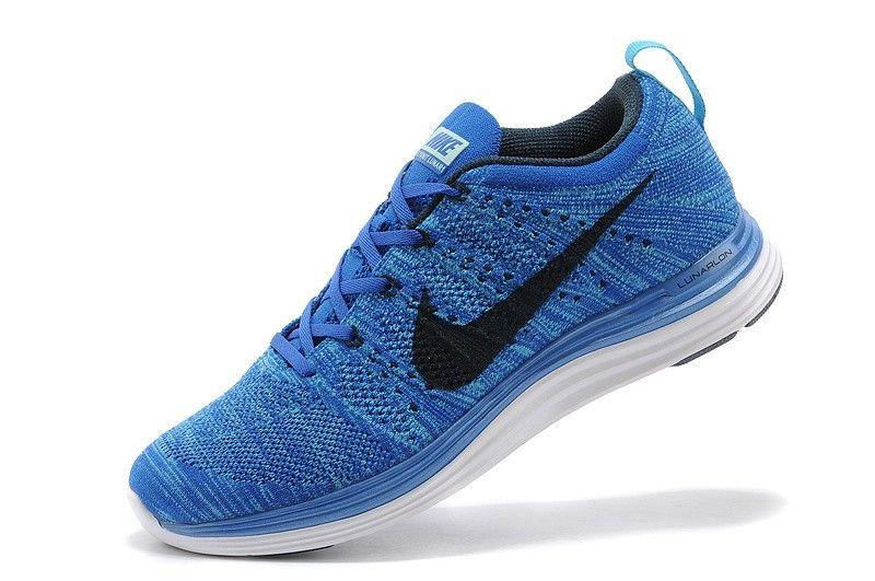 Nike Flyknit Lunar 1 Heren Koningsblauw/Zwart Collectie