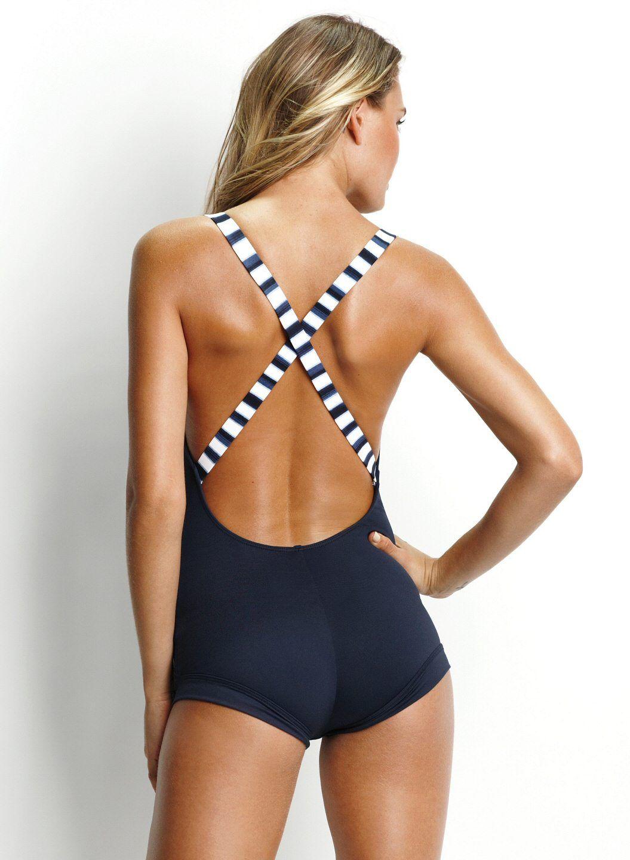 Sailor Seafolly Swimwear Boyleg Maillot My Style Pinboard
