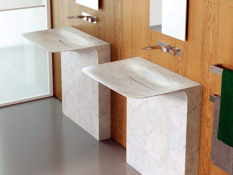 Colombo Bagno ~ Marble washbasin milestone by teuco design carlo colombo