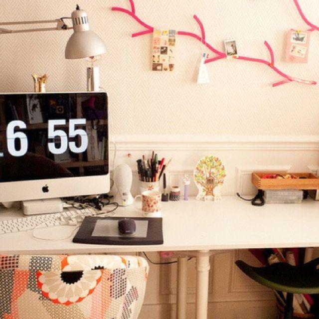 Such A Cute Desk Setup Office Room Decor Home Office Design
