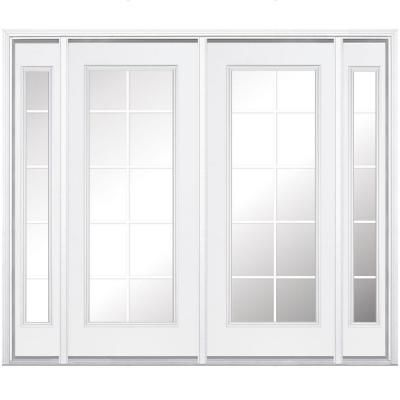 Masonite 96 In X 80 In Primed Prehung Right Hand Inswing 10 Lite Steel Patio Door With