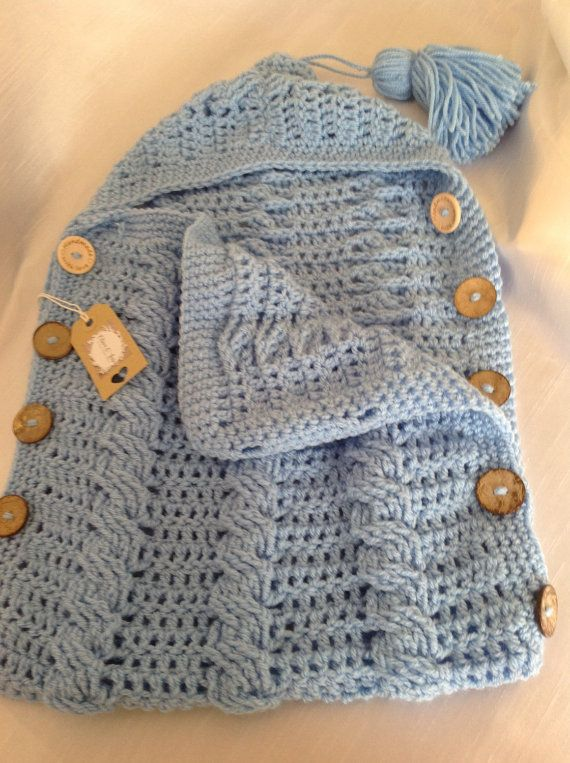 Newborn baby crocheted sleeping bag | Blusa De Crochê | Pinterest ...