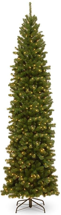 National Tree Company 10 Ft Pre Lit North Valley Spruce Pencil Slim Artificial Christmas Tree Slim Artificial Christmas Trees Slim Christmas Tree Spruce Christmas Tree
