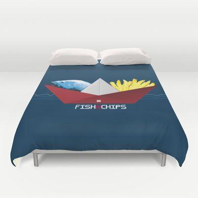 FishNChips Duvet Cover by Matt Irving - $99.00