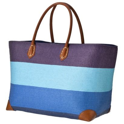 Just bought this at Target - Blue Straw Stripe Tote - need to ...