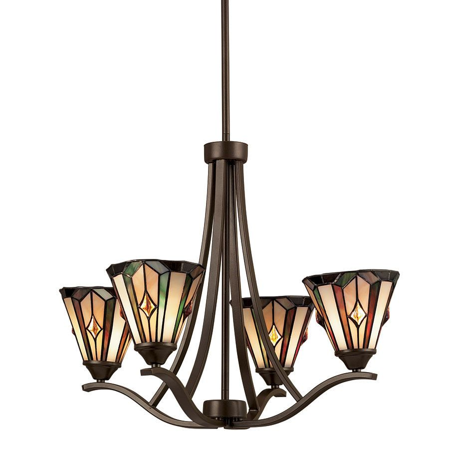 Shop Portfolio 4 Light Aztec Mission Bronze Tiffany Style Chandelier At  Lowes.com · Dining Room ... Part 43