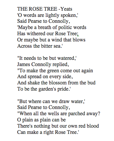 Quot The Rose Tree Quot William Butler Yeats Music Amp Poetry
