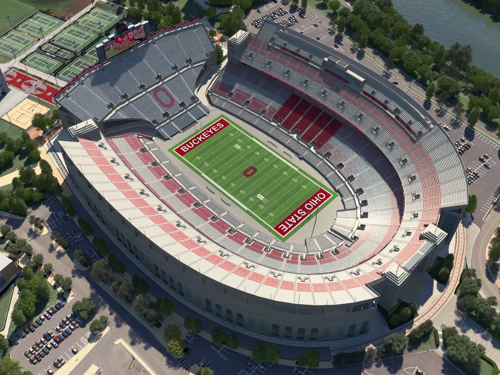 Ohio State Football Virtual Venue Powered By Iomedia Ohio Stadium Ohio State Buckeyes Football Ohio State