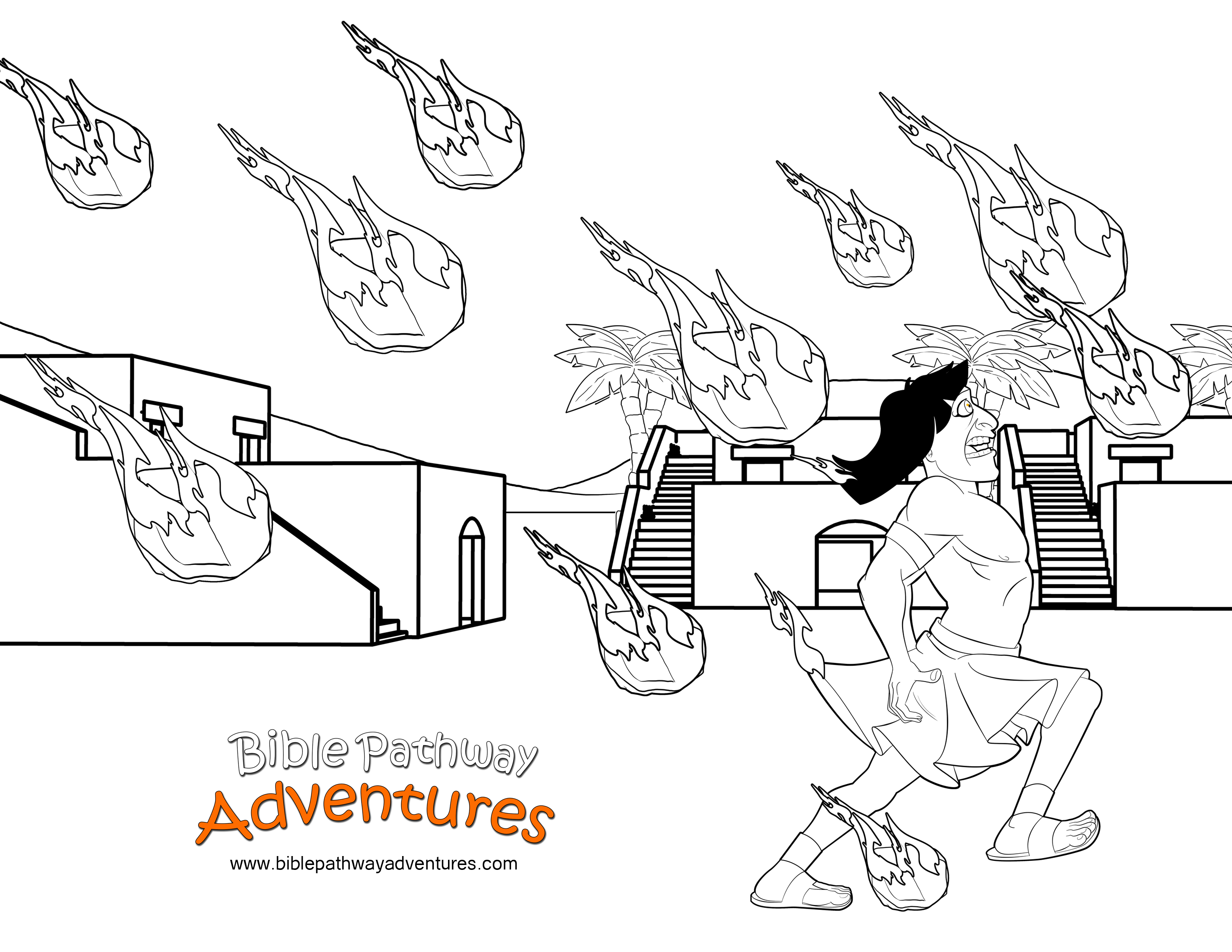 Free Bible Coloring Page Plague Of Hail