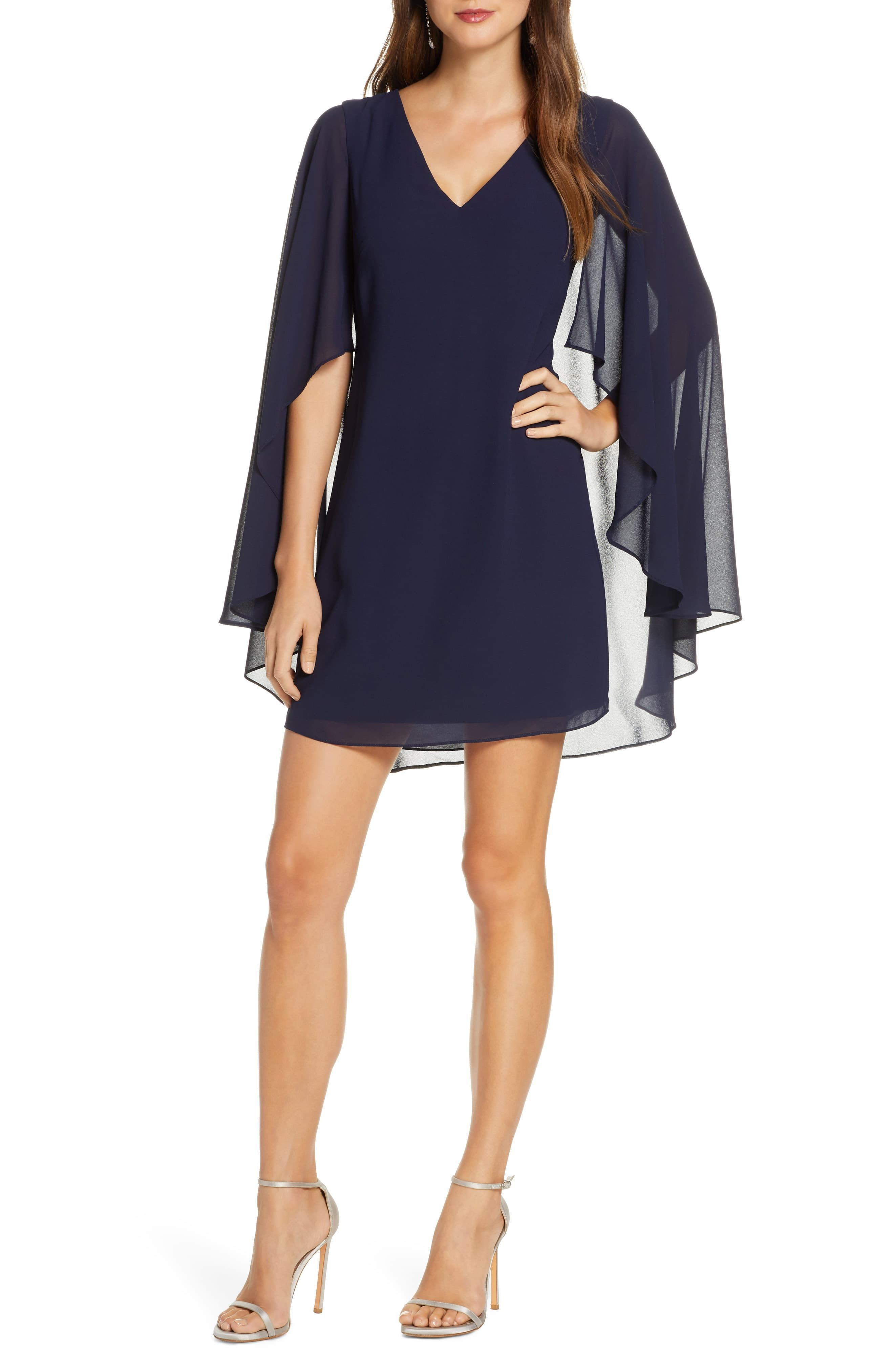 Vince Camuto Cape Back Shift Dress Regular Petite Nordstrom Fashion Clothes Women Dress Clothes For Women Fashion For Petite Women [ 4048 x 2640 Pixel ]