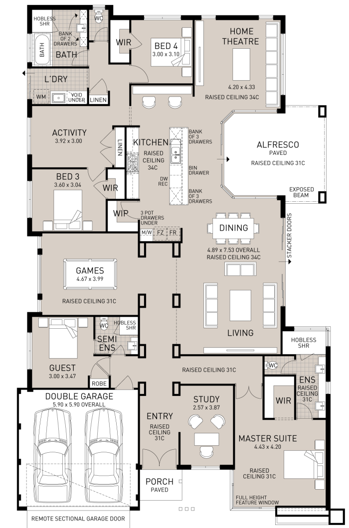 Floor Plan Friday The Home With Everything House Plans Floor Plans Dream House Plans