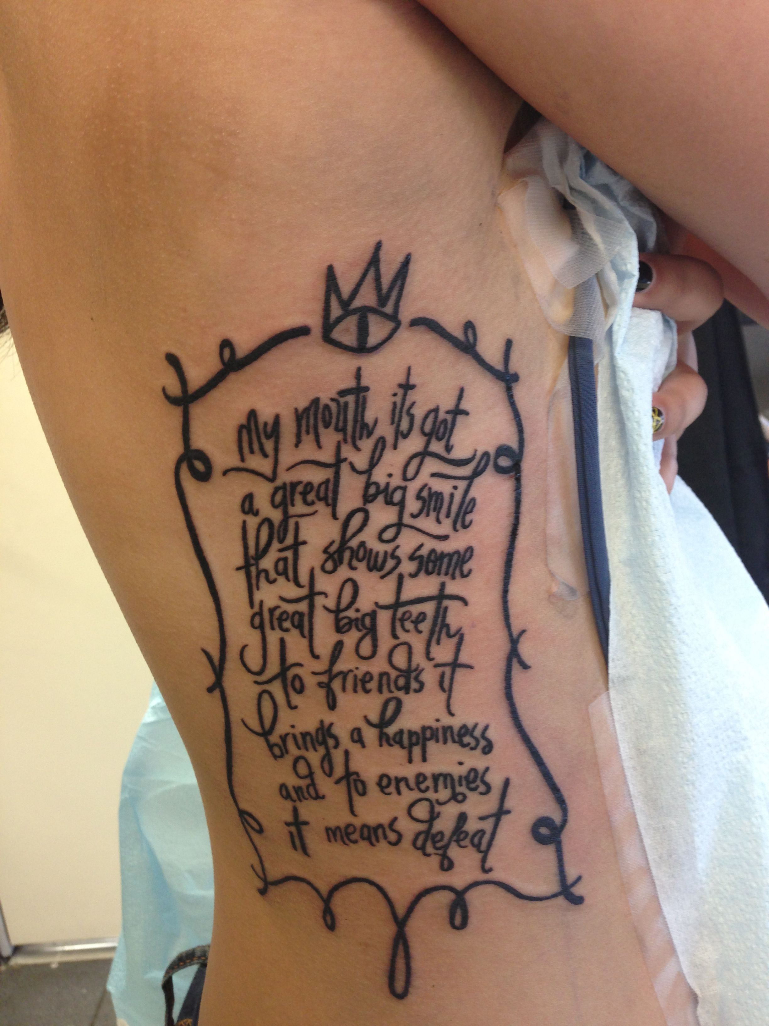 The Cat Empire Tattoo My Mouth Its Got A Great Big Smile That