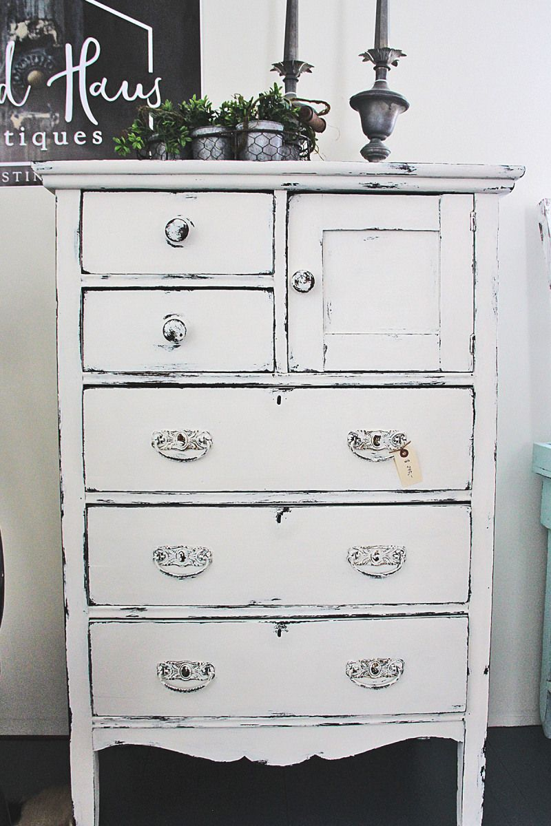 High Boy Dresser It Has Been Painted With Layers Of Annie Sloan S White Chalk Paint Laye