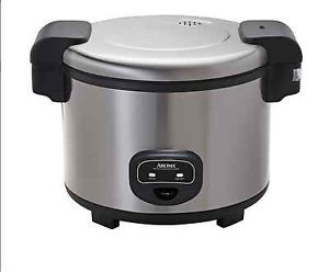 rice cooker stainless steel appliances electric kitchen non stick automatic food holds up to 60 cups - Non Stainless Steel Appliances