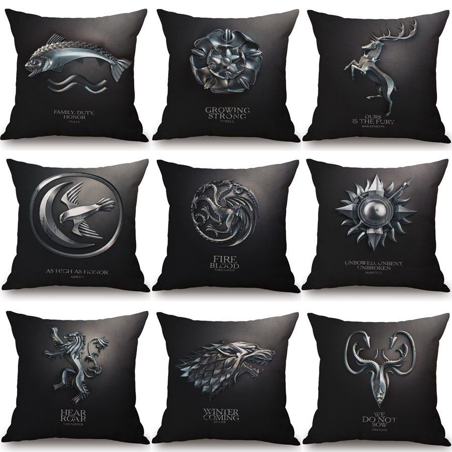 Game of thrones chair seat decorative pillowcase xcm price