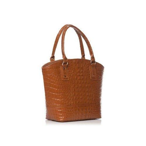 Geanta maro deschis croco, geanta de dama