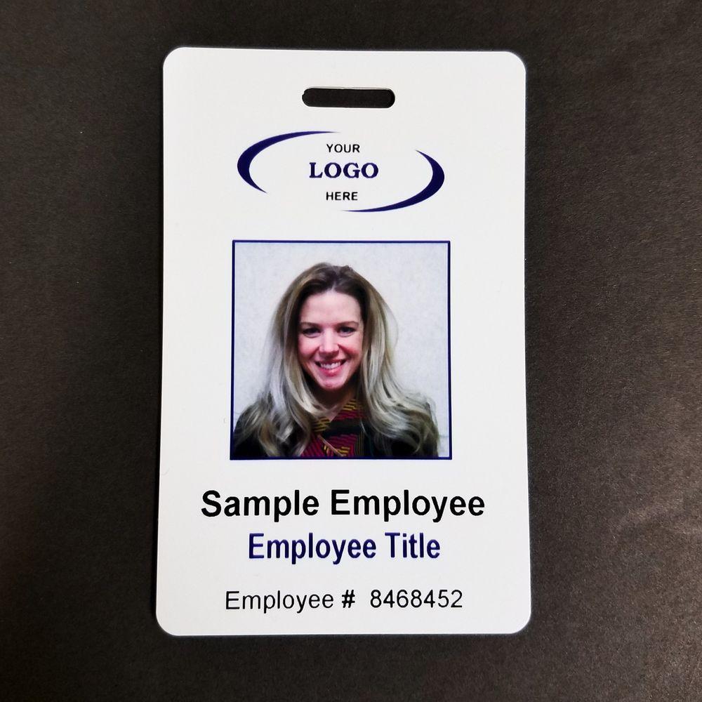 Custom id badge employee pvc card company logo image