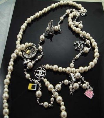 Chanel Charm Necklace Pearl Jewelry Design Chanel Necklace