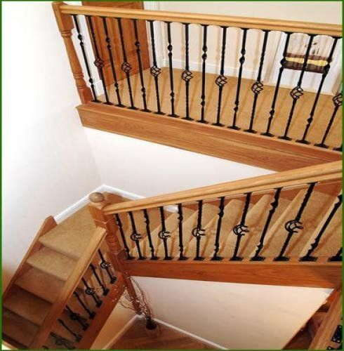 Best Case Studies Oak Stairs Curved Staircase Metal Spindles 640 x 480
