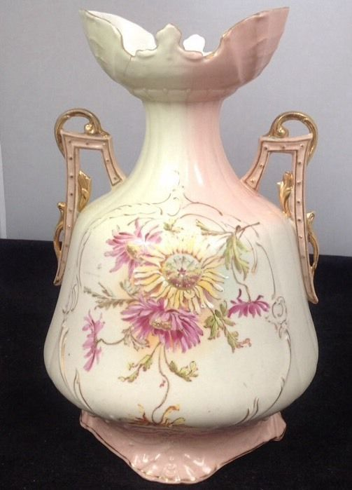Antique Made In Austria Robert Hanke Rh Hand Painted 2 Handled