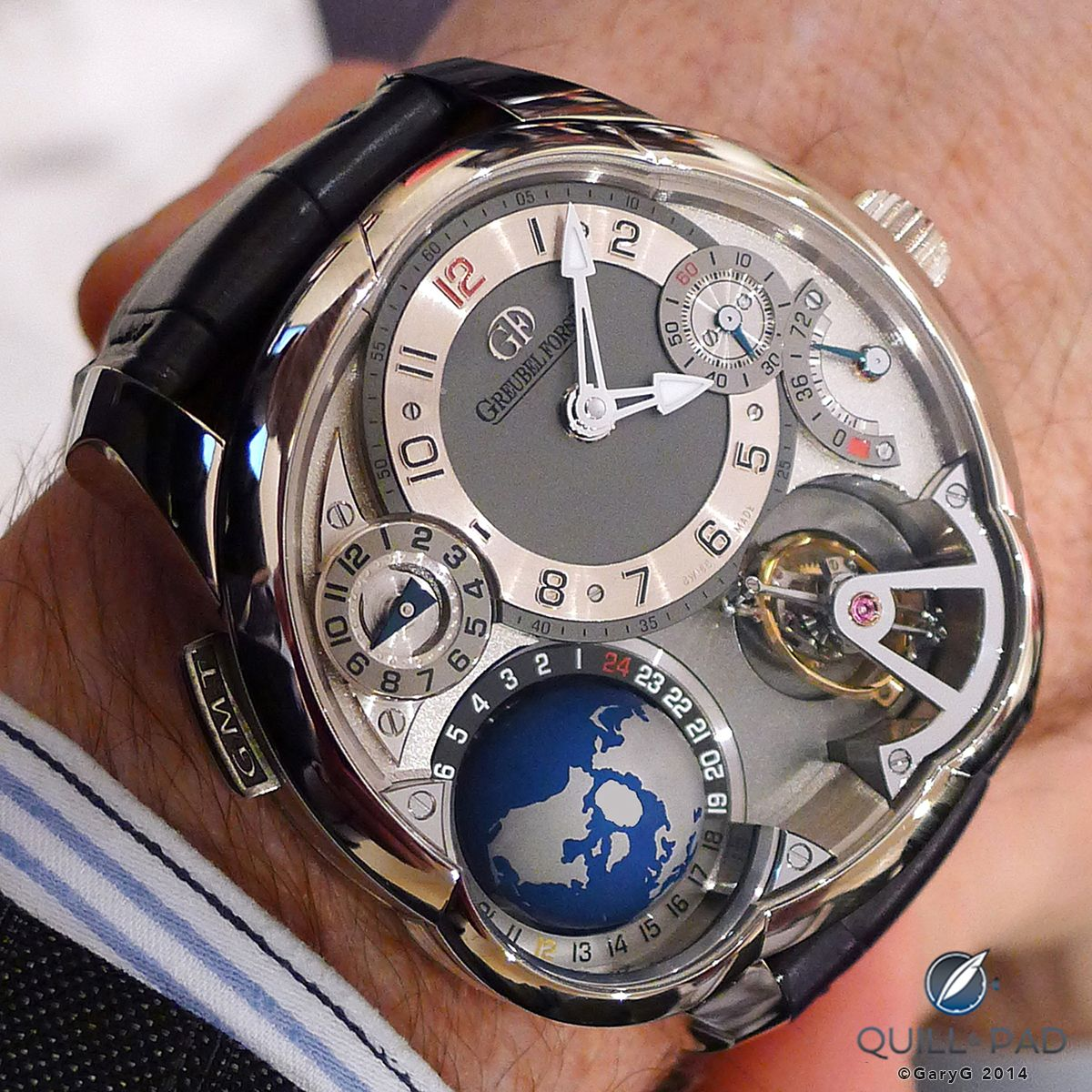 Greubel Forsey GMT on the wrist
