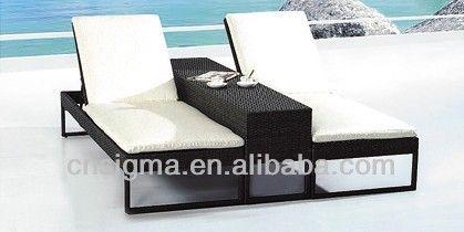Nieuwe ontwerpen zwembad ligstoel tuin dubbele ligstoel