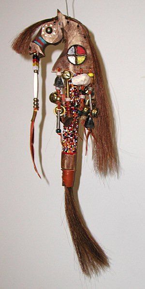 Lakota Horse Spirit Dance Rattle - some items are sacred and