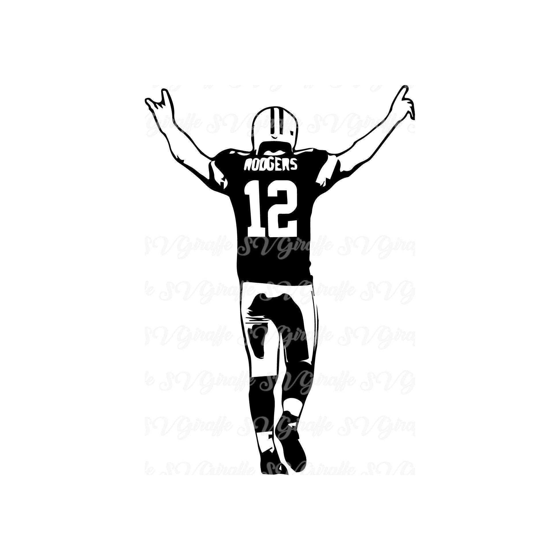 Aaron Rodgers Svg Dxf Png Pdf Jpg Files Aaron Rodgers Vector File Green Bay Packers Svg Dxf Pdf Png Jpg Cricut Pack Aaron Rodgers Svg Green Bay Packers