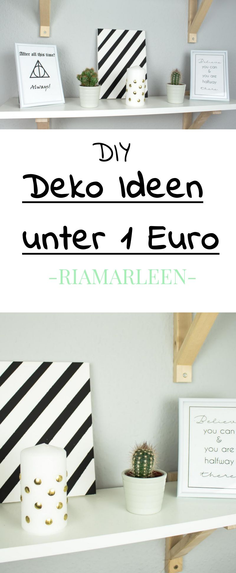 3 sch ne diy deko ideen unter 1 euro diy upcycling gruppe pinterest deko diy deko und. Black Bedroom Furniture Sets. Home Design Ideas