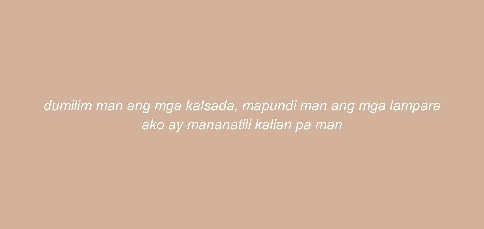 Banaag Munimuni Twitter Header Lyrics Twitter Header Quotes Tagalog Quotes
