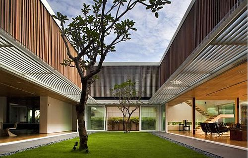 Central Courtyard Luxury House Designs Architecture House House Design Photos