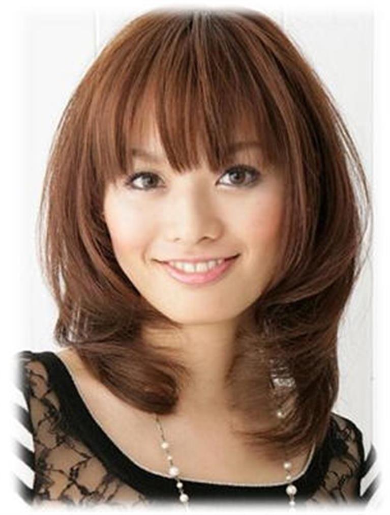Bing : medium length hair with bangs   Hair   Pinterest   Medium length hairs, Bangs and Hair style