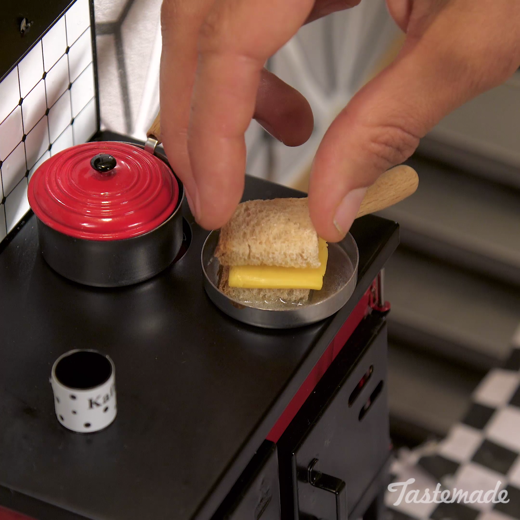 Mini Real Food Kitchen: Tiny Grilled Cheese And Tomato Soup