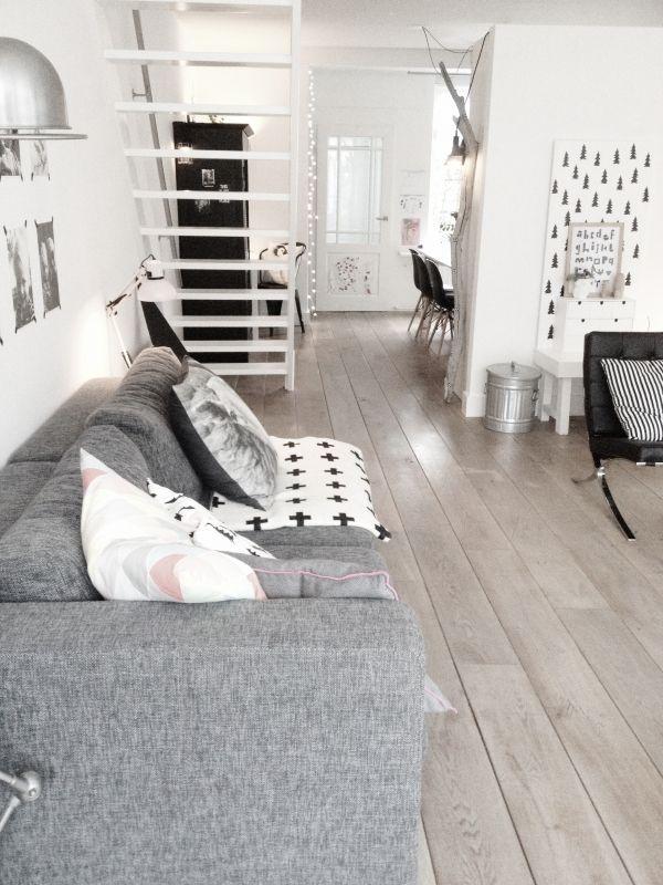 Scandinavisch wonen met veel wit - Huis   Pinterest - Scandinavisch ...
