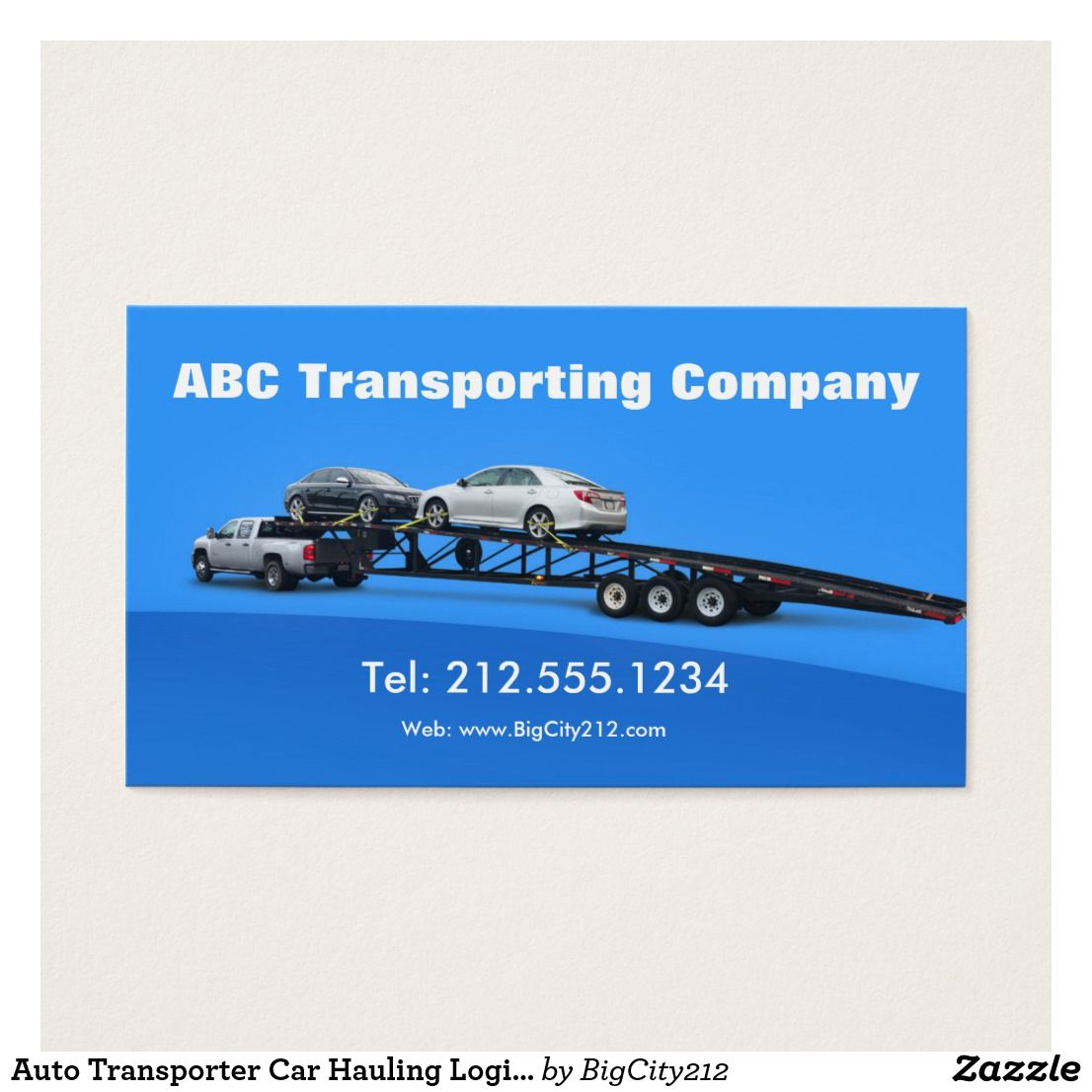 Auto Transporter Car Hauling Logistics Custom Check Out More Business Card Designs At Http