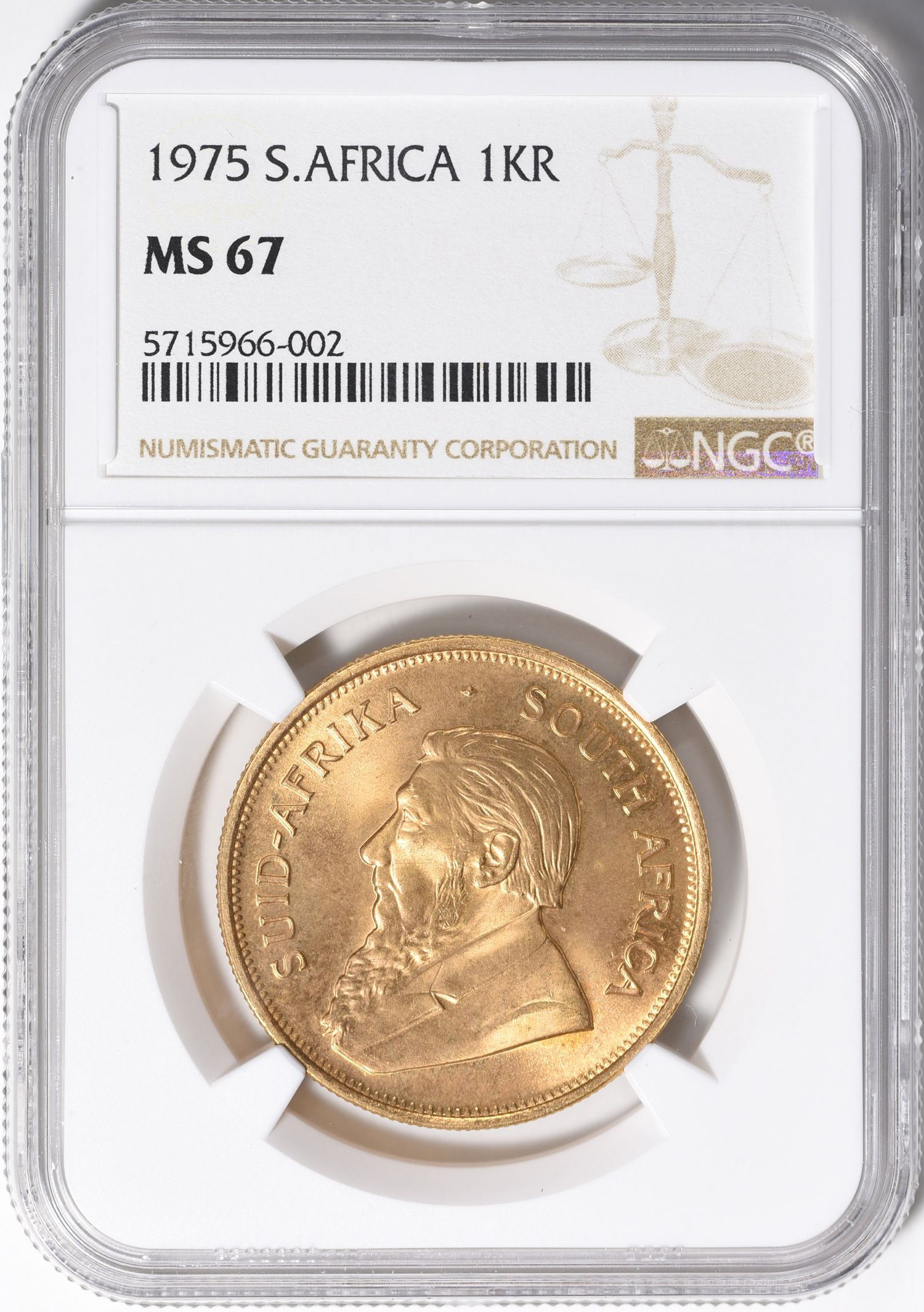 South Africa 1975 Gold Krugerrand Km 73 Ngc Ms 67 Agw 1 0 Oz Fr B1 South Africa 1975 Gold Krugerrand Km73 Ngc In 2020 Gold Krugerrand World Coins Coins