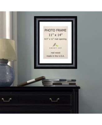 Amanti Art Steinway Black 11 X 14 Matted 8 5 X 11 Opening Wall Picture Photo Frame Black Picture Frames Silver Picture Frames Black Picture