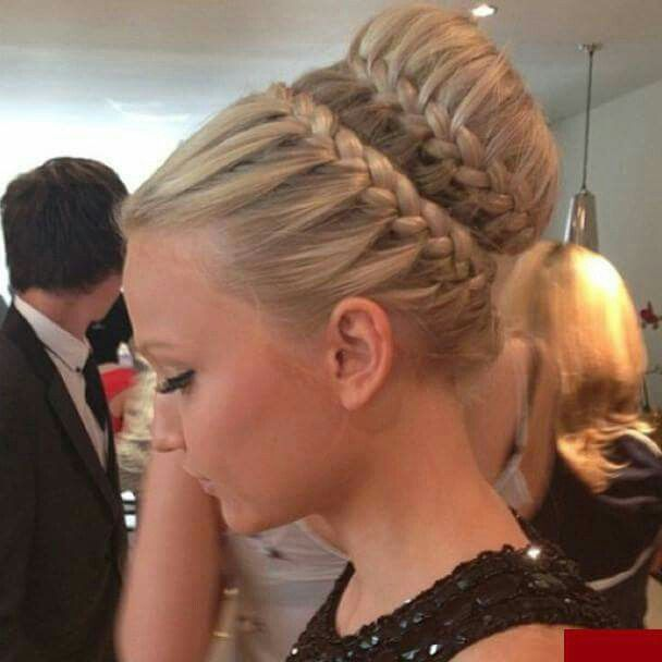 Inspo, braids, bun,hair,must try.