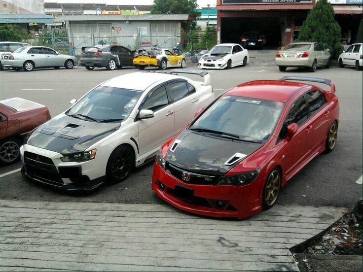 Civic vs evo Honda civic, Honda cars, Modified cars