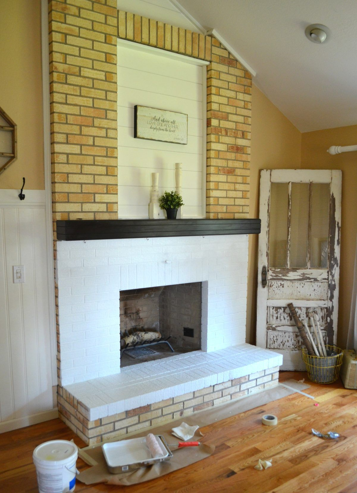 How to paint a brick fireplace in 3 simple steps brick