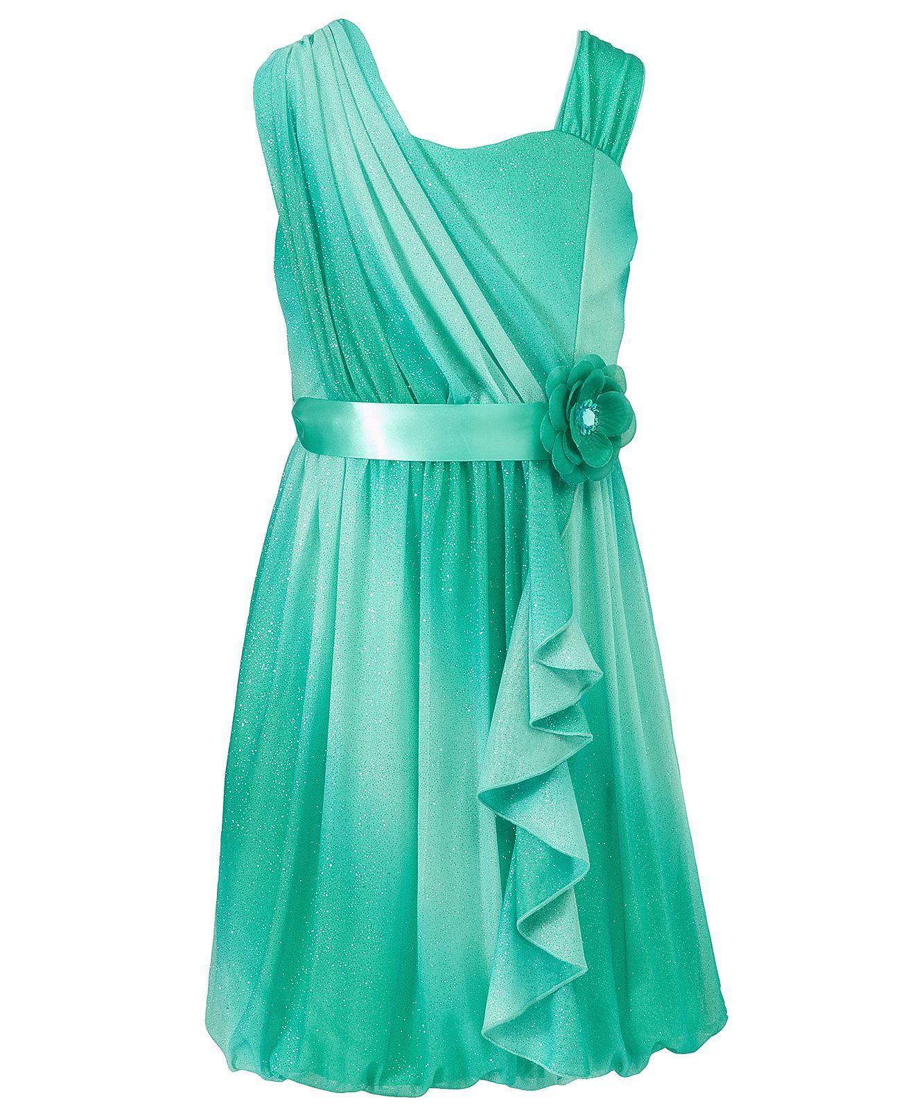 Maya flower girl dress? Sequin Hearts Kids Dress, Girls One Shoulder ...