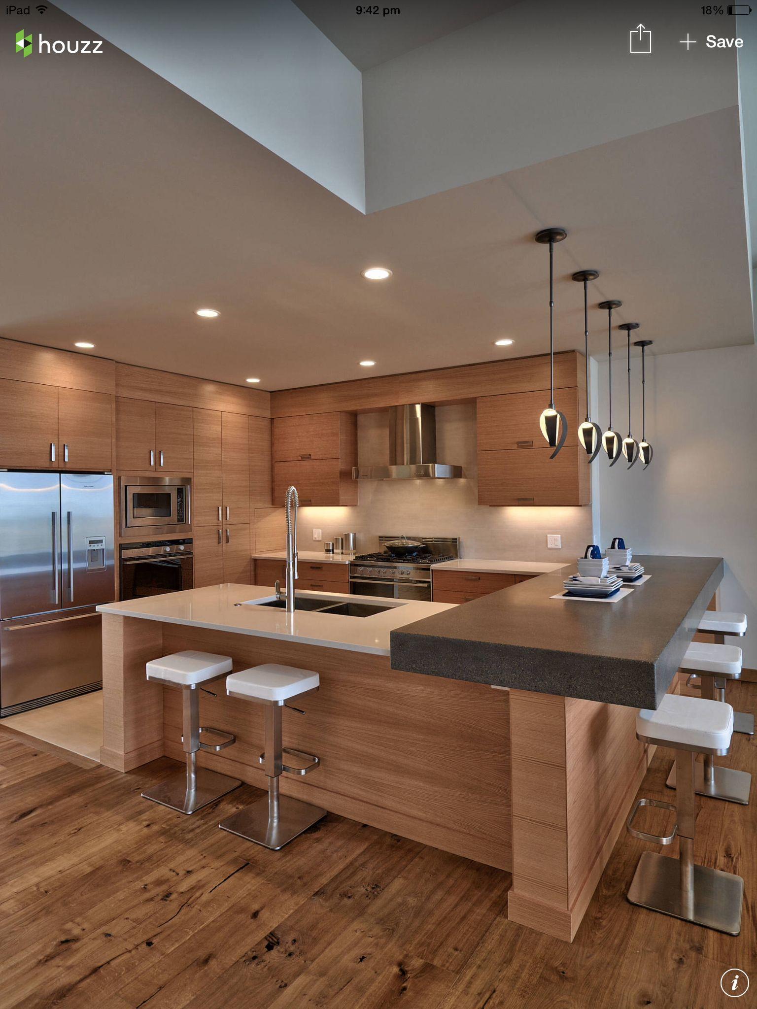 Cocina en madera moderna | Home improvement\'s ( DIY and essential\'s ...