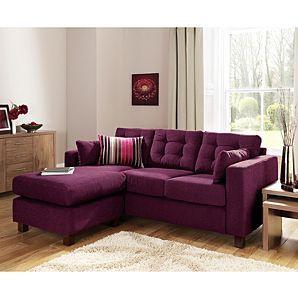 Purple sofa | Furnishings, Interiors | Purple living room ...