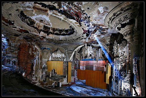 Abandoned Detroit theatre.