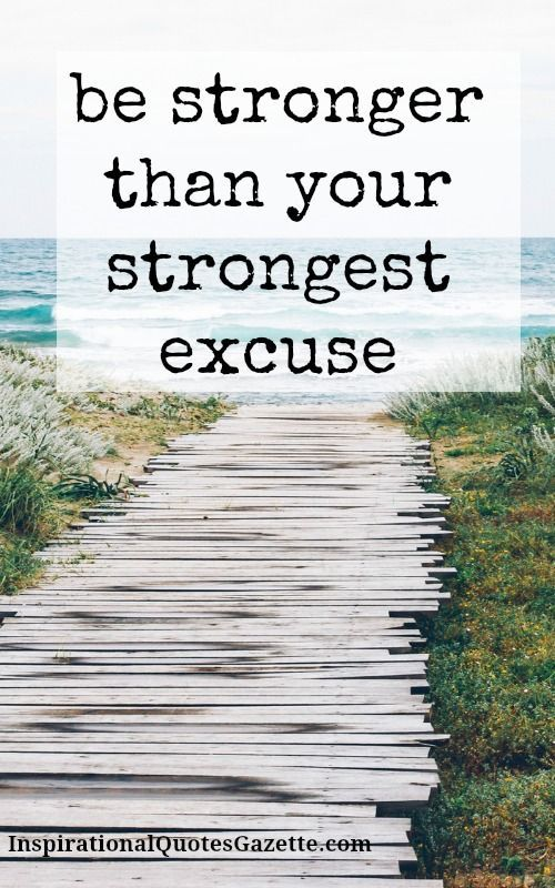 Be Stronger Than Your Strongest Excuse Recovery
