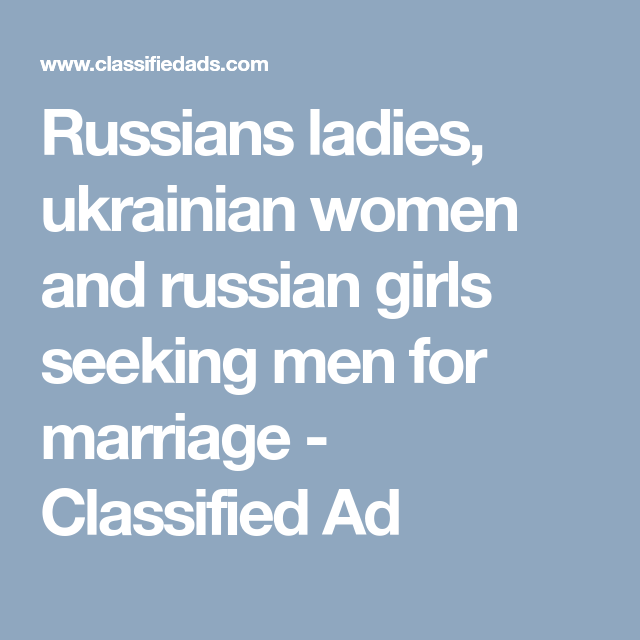 women classified ads