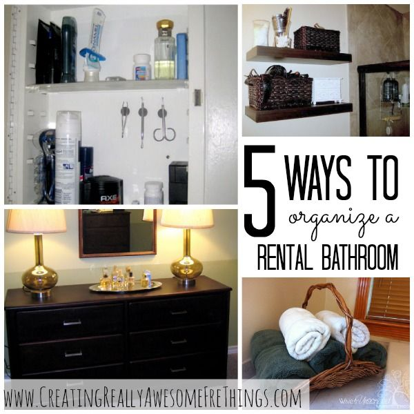 5 Ways to Organize Your Rental Bathroom | Simple apartment