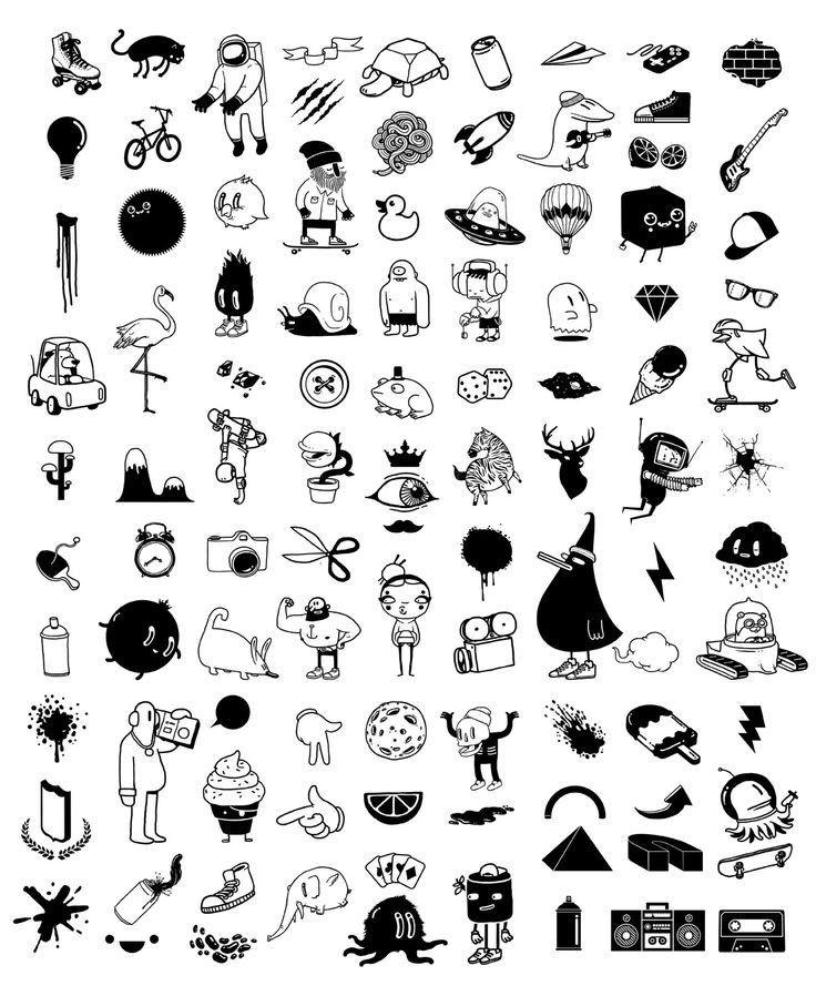 Черные маленький картинки